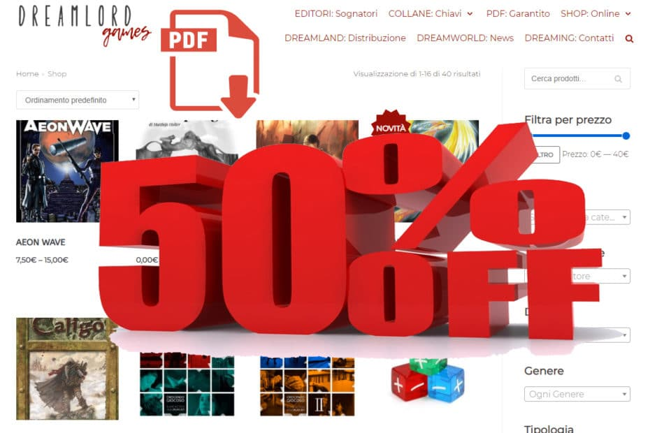Prodotti in formato elettronico scontati al 50% e gioco online