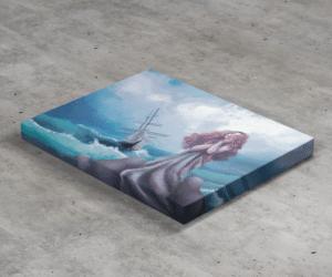 Stampa Copertina su tela 30x20 cm con telaio in legno 20 mm
